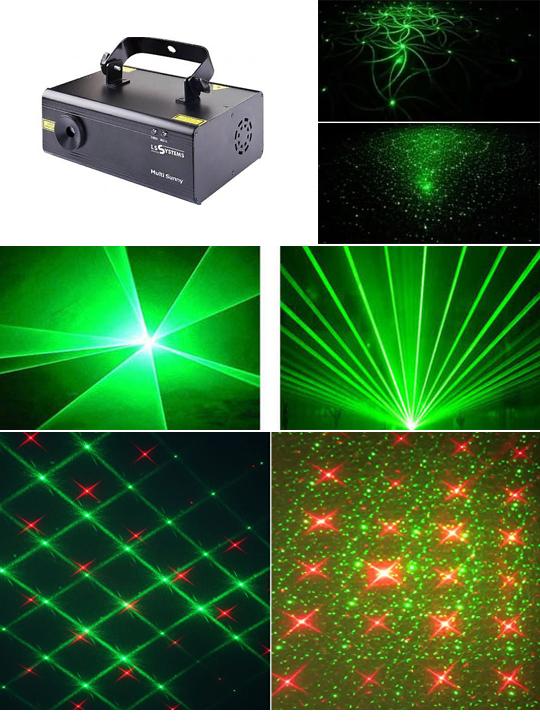 Анимационный лазер для дискотек
