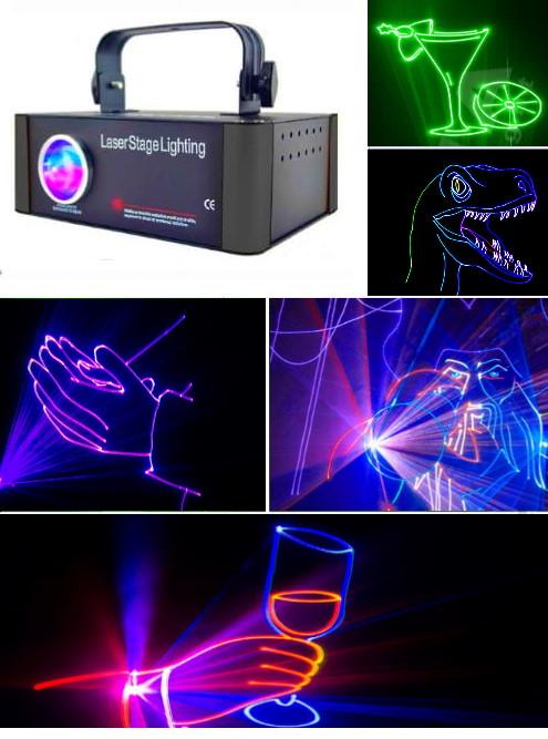 Анимационные лазерные проекторы